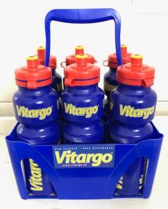 Flaskställ + 6 st Vitargoflaskor 750 ml