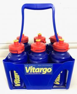 Flaskställ + 6 st Vitargoflaskor 500 ml